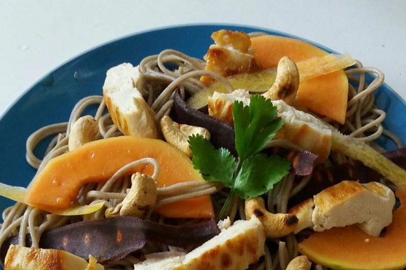 Nouilles asiatiques à la papaye 2