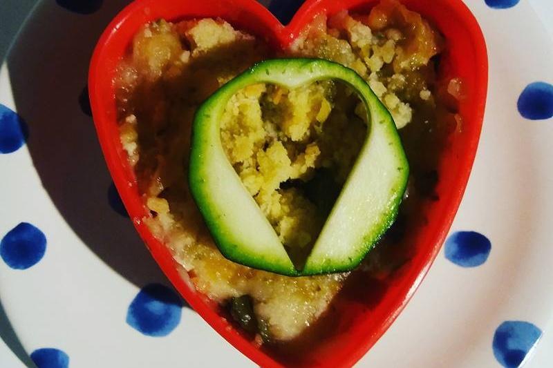 Crumble pomme et courgette