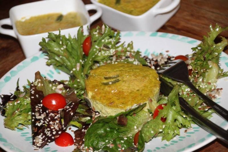 Flan aux haricots verts et paprika
