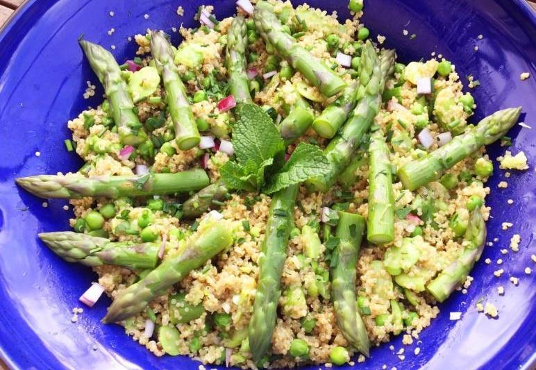 Salade d'asperge aux petits pois